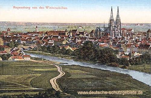 Regensburg von den Winzererhöhen