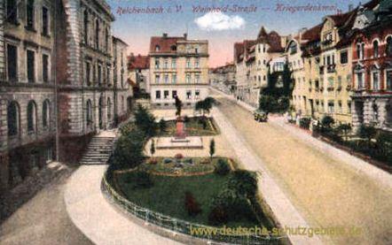 Reichenbach i. V., Weinhold-Straße - Kriegerdenkmal
