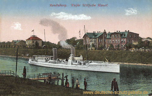Rendsburg, Kaiser Wilhelm-Kanal (S.M.S. Sleipner)