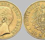 10 Mark, 1882, Heinrich XIV. j.L. reg. Fürst Reuss