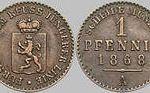 1 Pfennig, 1868, Fürstentum Reuss j. L.