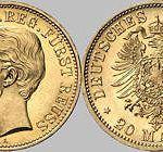 20 Mark, 1881, Heinrich XIV. j.L. reg. Fürst Reuss