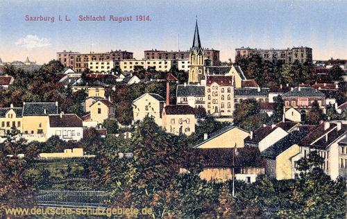 Saarburg in Lothringen, Schlacht August 1914