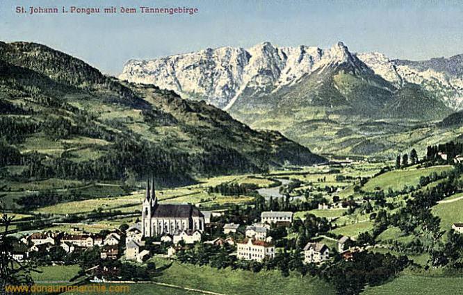 Sankt Johann im Pongau mit dem Tännengebirge