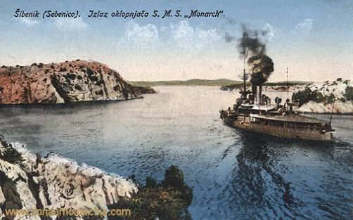 Šibenik-Sebenico, S.M.S. Monarch