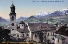 Sion, Eglise des Jésuites et la Haut de Cry