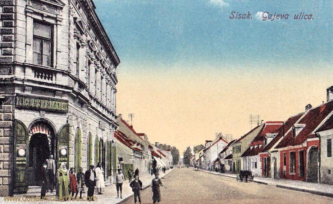 Sissek (Sisak), Gajava ulica