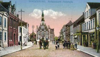 Sonderburg, Rathausmarkt Perlstraße