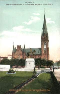 Spandau, Garnisonkirche und Denkmal Kaiser Wilhelm I.
