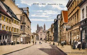 Speyer am Rhein, Hauptstraße und Dom