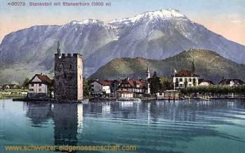 Stansstad mit Stanserhorn (1900 m)