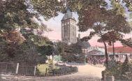 Stargard i. P., Anlagen am Schweizerhäuschen und Johanniskirche