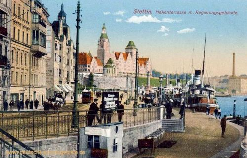 Stettin, Hakenterrasse mit Regierungsgebäude