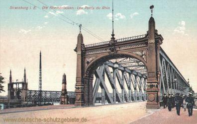 Straßburg i. E., Die Rheinbrücken