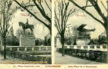 Straßburg i. E., zerstörtes Kaiser-Wilhelm-Denkmal 1918