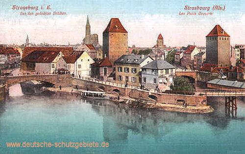 Straßburg i. E., gedeckten Brücken