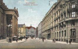 Stuttgart, Schlossstraße mit Bahnhof