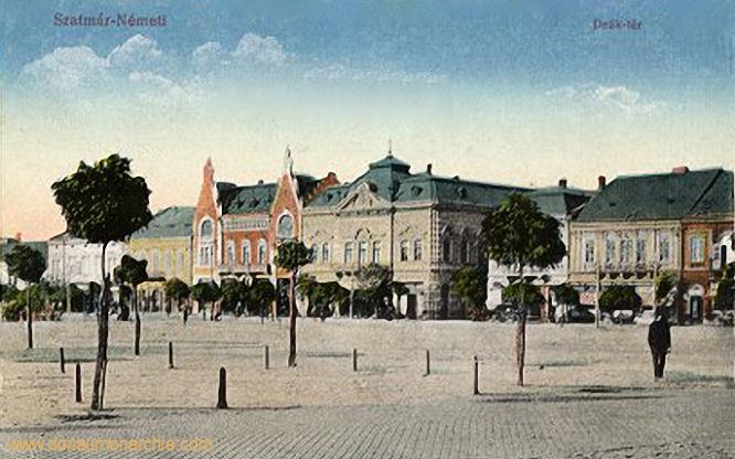 Szatmár-Németi, Deák tér (Marktplatz)