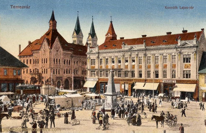 Temesvár, Kossuth Lajos tér (Kossuth-Platz)
