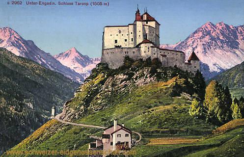 Unter-Engadin, Schloss Tarasp (1505 m)