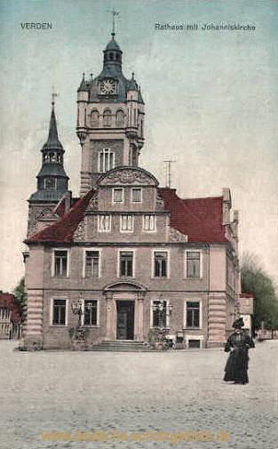 Verden, Rathaus mit Johanniskirche