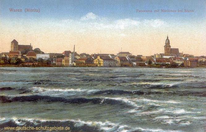 Waren (Müritz), Panorama mir Müritzsee bei Sturm