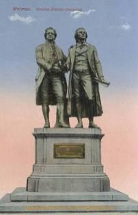 Weimar, Goethe-Schiller-Denkmal