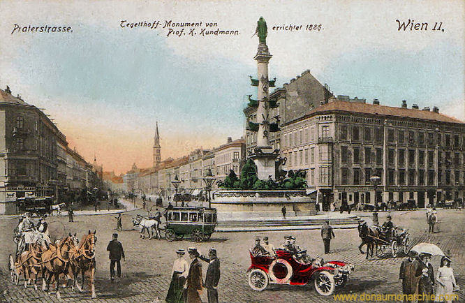 Wien II - Praterstrasse, Tegetthoff-Monument