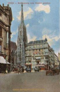 Wien, Stefansturm vom Graben gesehen