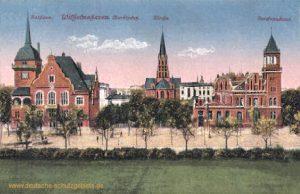 Wilhelmshaven, Marktplatz, Rathaus, Kirche, Reichspostamt