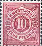 Königreich Württemberg mit Währung Mark, 10 Pfennig