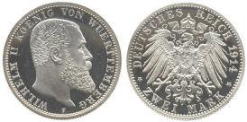 2 Mark, Württemberg 1914