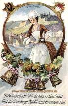 Die Würzburger Glöckli die ham a schön's Geläut Und die Würzburger Mädli sind kreuzbrave Leut.