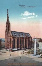 Würzburg, Marktplatz mit Marienkapelle