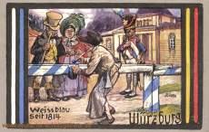 Würzburg, Weissblau seit 1814 (100 Jahrfeier)
