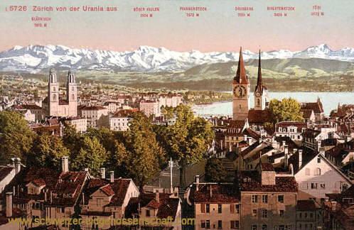 Zürich von der Urania aus