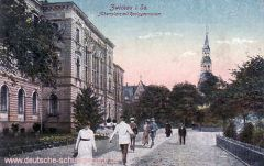 Zwickau, Albertplatz mit Realgymnasium