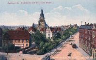 Zwickau, Moritzkirche mit Glauchauer Straße