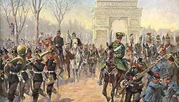 Einzug der deutschen Truppen in Paris am 1. März 1871