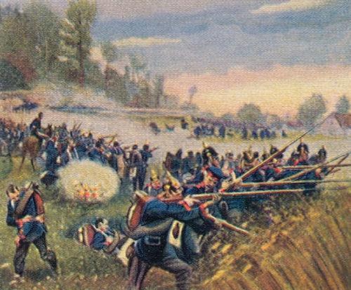 Verteidigung des Swiep-Waldes in der Schlacht bei Königgrätz am 3. Juli 1866