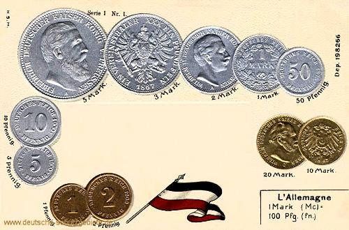 Münzen, Deutschland 1900