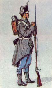 Österreichischer Infanterist 1866, Regiment Hoch- und Deutschmeister