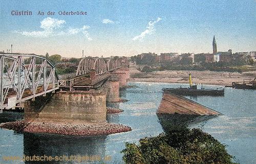 Küstrin, An der Oderbrücke