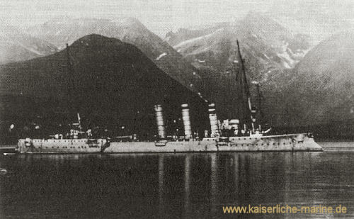 S.M.S. Berlin in Norwegen 1910