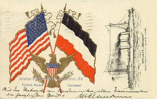 S.M.S. Bremen in New York, Juni 1908