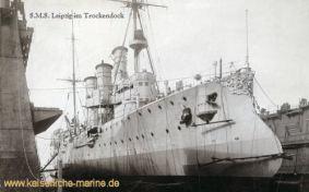 S.M.S. Leipzig im Trockendock