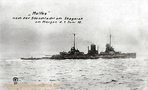 S.M.S. Moltke nach Seeschlacht am Skagerrak