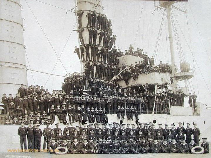 S.M.S. München, Mannschaft 1915