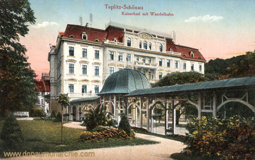 Teplitz-Schönau, Kaiserbad mit Wandelbahn