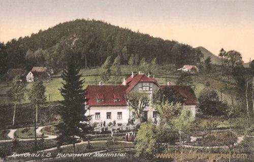 Zwickau in Böhmen, Kuranstalt Martinstal